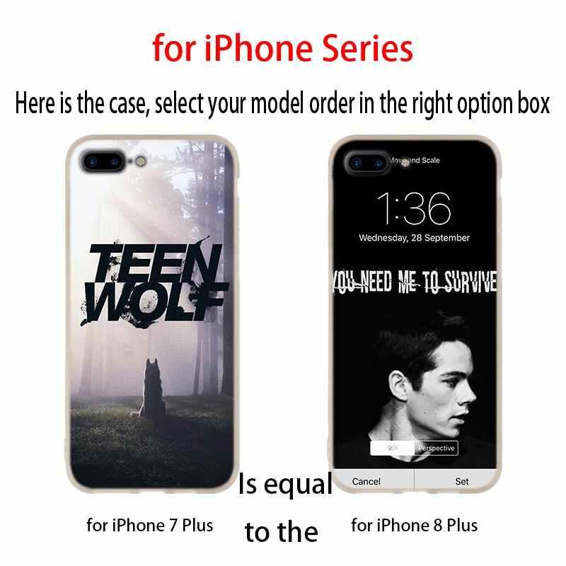 Capa de celular macia teen wolf bromance, capa de celular para iphone 11 pro 2019 4 5 5S se 6 6 capa de etui s 7 8 plus x xr xs max
