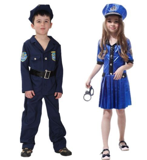 c6dabc5450a Детей Хэллоуин костюмы для выступлений Valiant красивый костюм милиции  полиции одежда Косплэй аниме Для мальчиков и