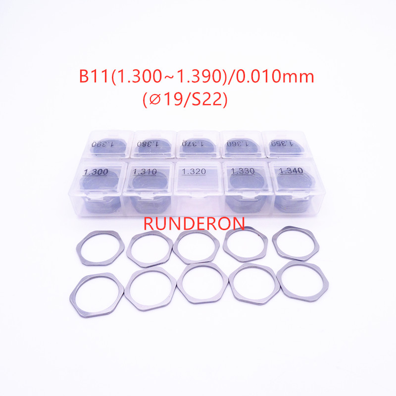 RUNDERON B11 B12 B13 B14 B16 Fuel System Common Rail Injector Repair Adjusting Washer Shim for-B-OSCH-C-UMMINS Series Kit