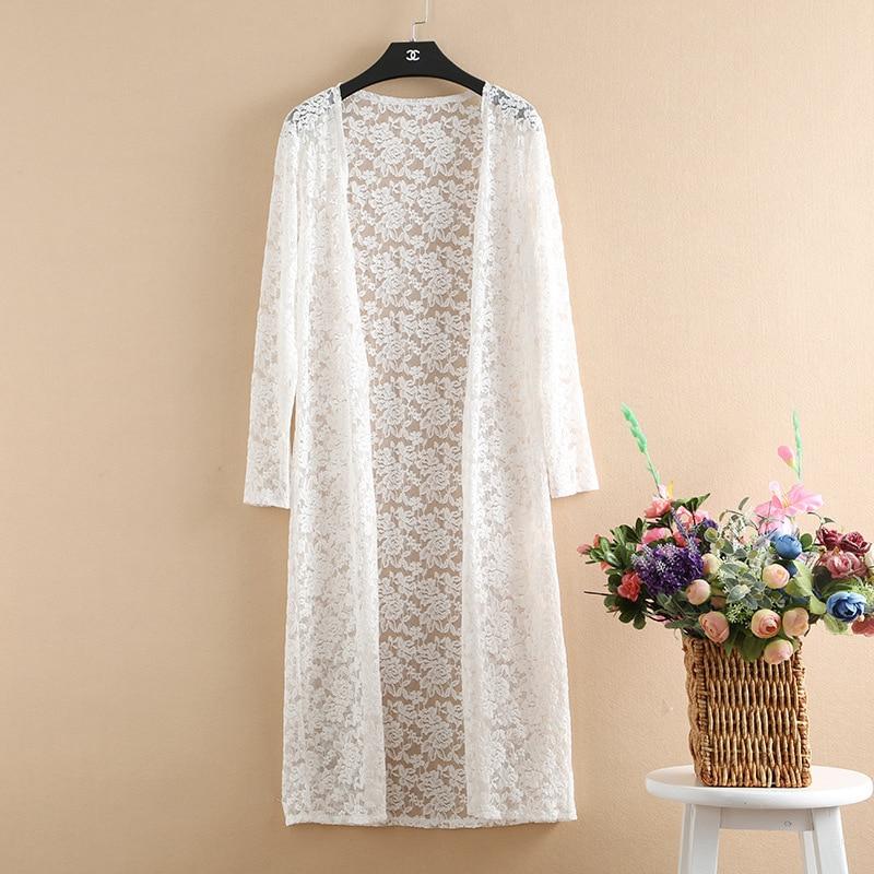 Kimono Cardigan 2017 Plus Size 6XL 5XL 4XL Shirt Women Summer Cardigan Long Lace Blouse Cheap