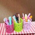 Полые Цветочный Карандаш Настольный Держатель Пера Контейнеров Организатор Пластиковая Ручка Чайника Кисти Для Макияжа Хранения Горячей Цветок