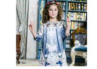 Girl Winter Butterfly Princess dress Infant party dress Unicorn Print Children Kids Dress for Girls Autumn Dresses HB2093
