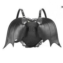 Lodogsow модные женские туфли рюкзак крыло летучей мыши рюкзак из искусственной кожи школьная сумка для девочек битой Сумка Крылья Ангела рюкзак Упаковка рюкзак