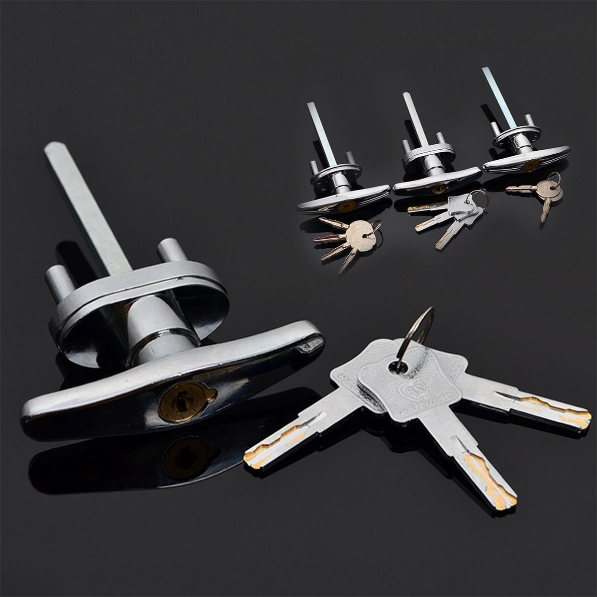 3 Types Garage Door Opener T Lock Handle With 2 3 4 Keys