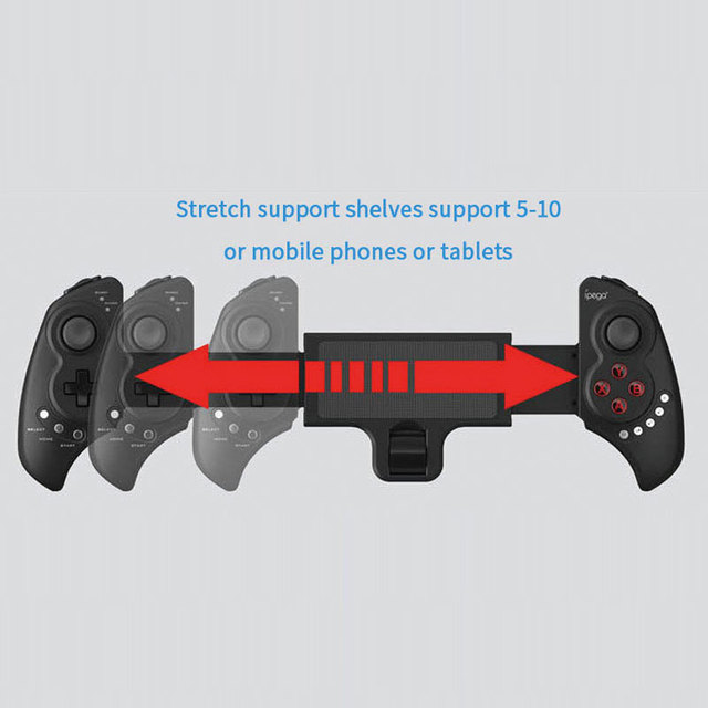 IPEGA PG 9023 Telescopic Gamepad Wireless Bluetooth Joystick Controller For Android IOS iphone 7 ipad 2