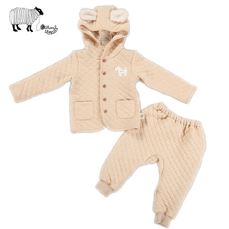 Infant Baby Girl Boys Winter Long Sleeve Organic Cotton Outfits Clothes Toddler Tiny Little Baby Cute Rabbit Hooded Sets Costume hy130 organic cotton baby s snap long sleeve infant romper cloth blue size l