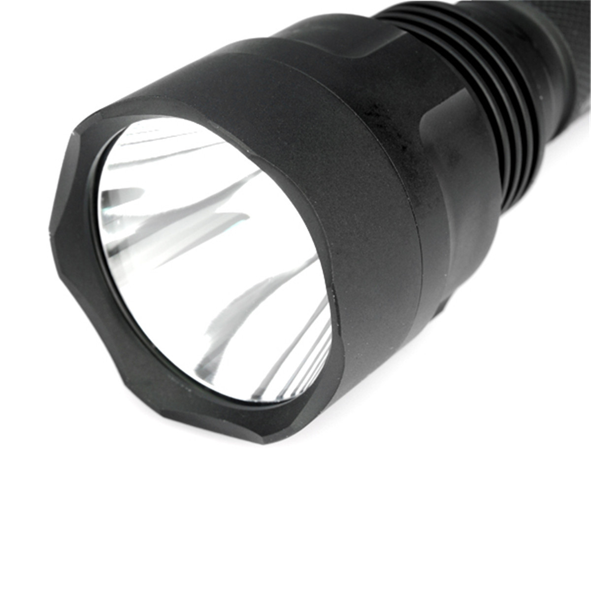 Convoy C8 NEW Version Aluminum Alloy DIY LED Flashlight Shell Host with SMO Reflector, Glass Lens