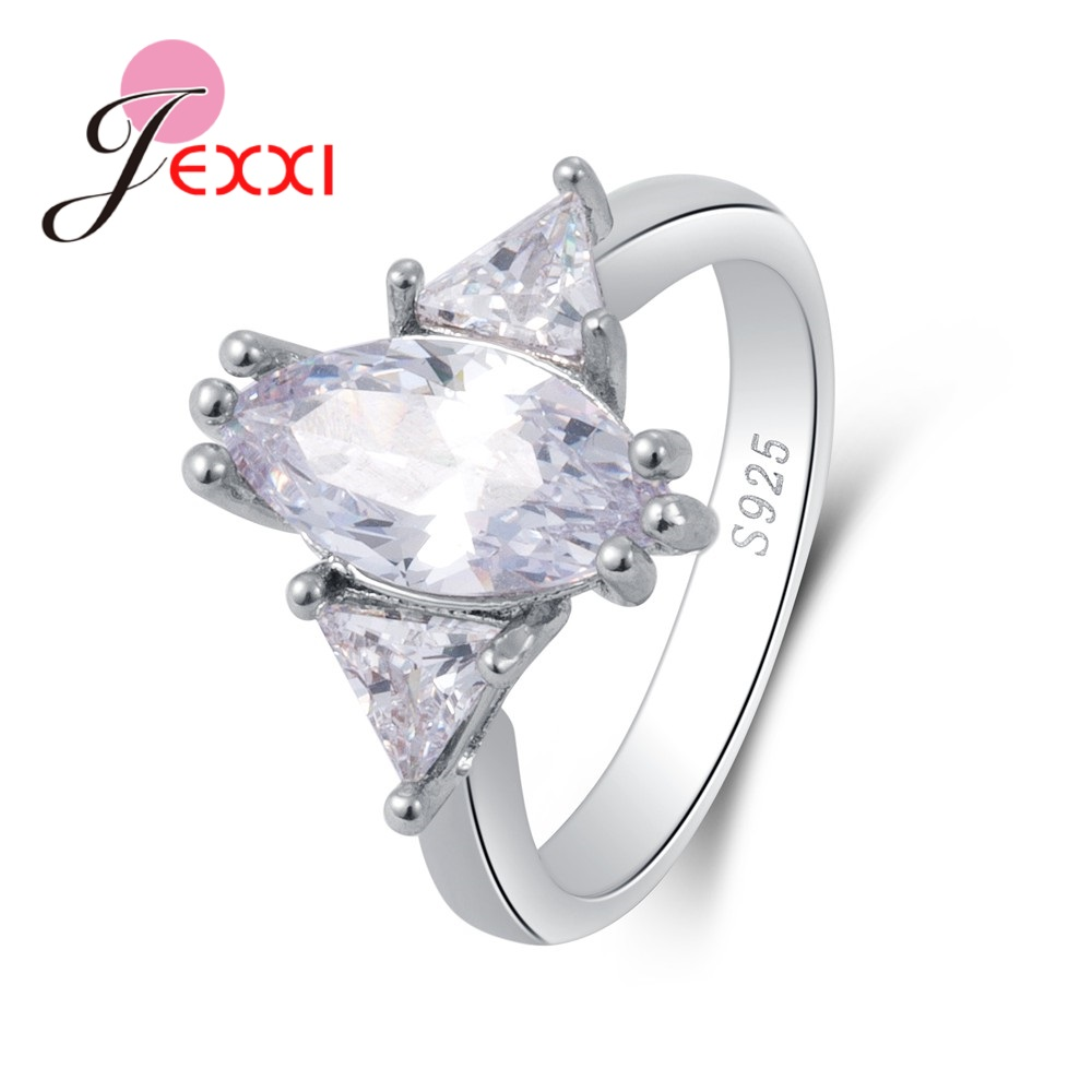 What Finger To Wear Wedding Ring: JEXXI Hot Sale Women Finger Ring Pretty Sterling 925