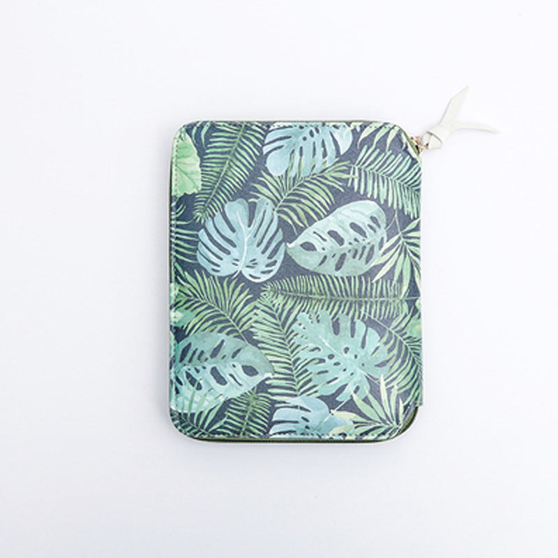 Image 5 - Yiwi Original A6 Green Leaf Hobo Zip Bag Planner Creative Diary Notebook Office Supplies With Gift Box-in Notebooks from Office & School Supplies