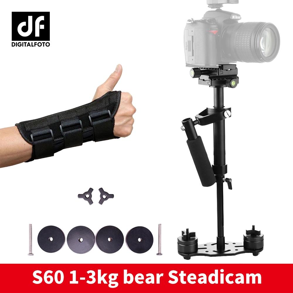 Steadicam S60 handheld camera stabilizer video steady cam DSLR steadycam estabilizador cameras with hand brace for Canon Nikon