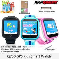 SMARCENT GW200S GPS montre intelligente Q100 bébé montre avec Wifi GPS SOS appel localisation dispositif Tracker pour enfants enfant montre GPS sûre