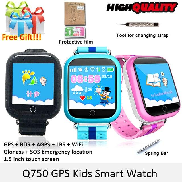 SMARCENT GW200S GPS smart watch Q100 del bambino orologio con Wifi GPS di Chiamata SOS Dispositivo di Posizione Tracker per I Bambini Del Capretto di Sicurezza GPS orologio