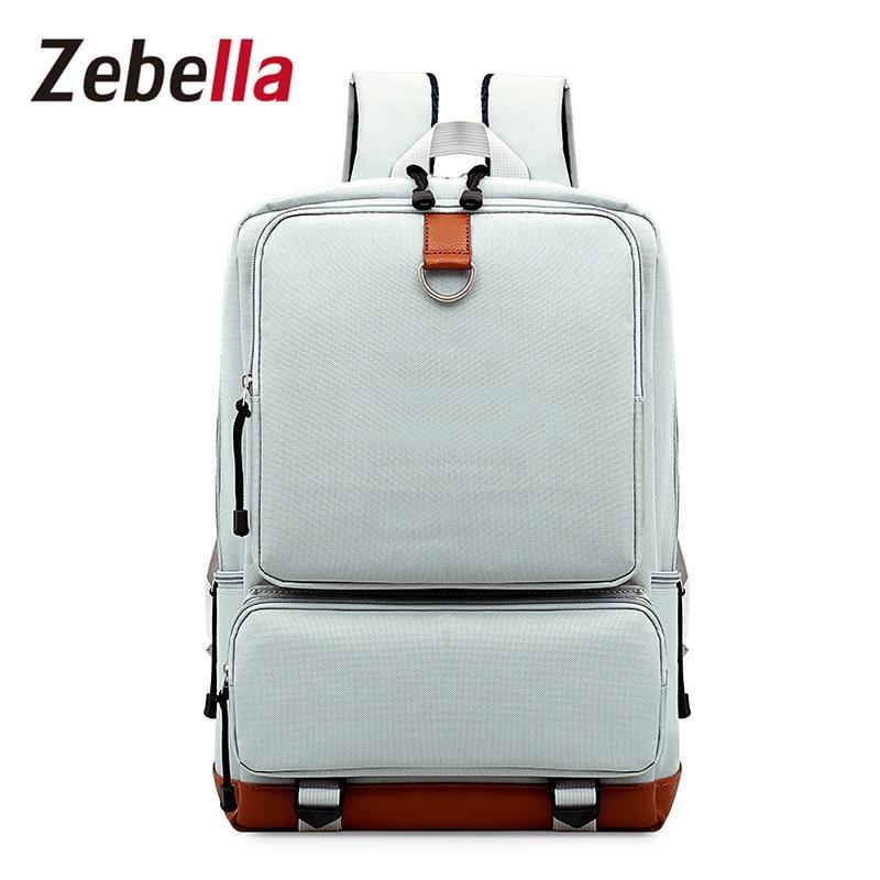 Zebella однотонные Холст Школьные сумки 2017 Kanken женщины рюкзак Mochila Feminina