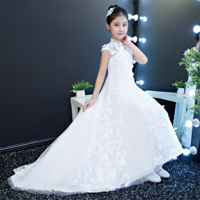 de Casamento Aniversário longa cauda vestidos de