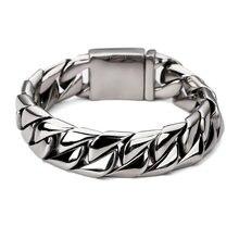 Новый продукт мужской браслет в стиле панк рок звеньевая цепочка