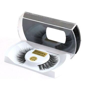 1 Pair 100% Real Mink Hair Black Natural Thick False Fake Eyelashes Women Lady Eye Lashes Makeup Extension Tools