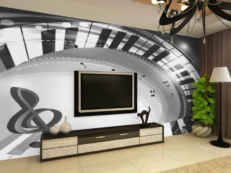 Free Shipping 3D stereo piano black and white keys mural TV backdrop sofa wall living room bedroom study wallpaper  free shipping england wind red white blue fashion backdrop tv backdrop bedroom living room mural wallpaper