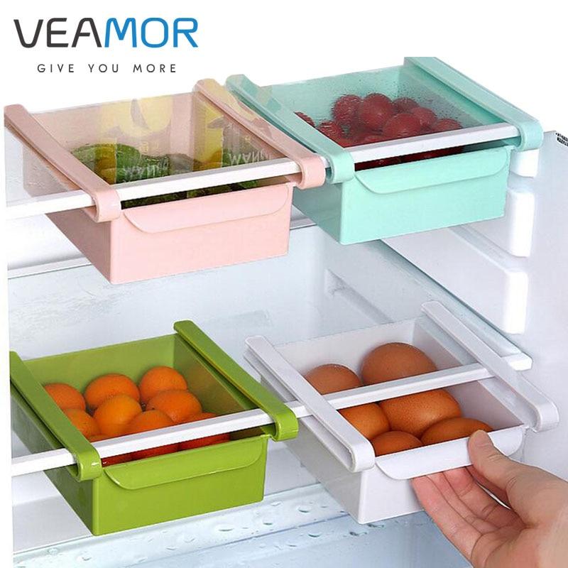 VEAMOR PP műanyag tároló dobozok összekapcsolt hűtőszekrény - Szervezés és tárolás