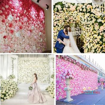Artificial Flower Wall Decoration Silk Rose Hydrangea For Wedding