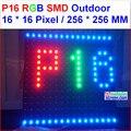 Smd новый дизайн P16 высокая яркость 8000 нит светодиодный дисплей модуль  256 мм * 256 мм  16*16 пикселей  открытый p16 smd rgb led панель