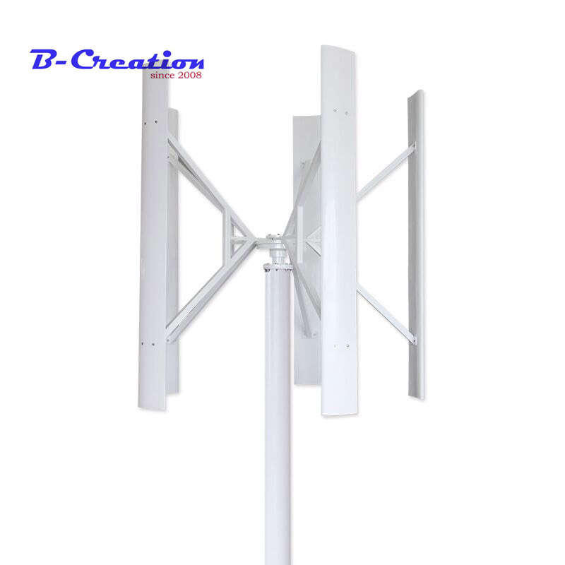 Factory direct sales 300W Vertical Wind Turbine Generator Low Wind Speed Starting Rated with wind controller