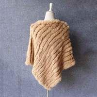 JKP 2018 new genuine real natural rabbit fur female cloak cape scarf fur rabbit shawl free shipping triangle shawl discount gift