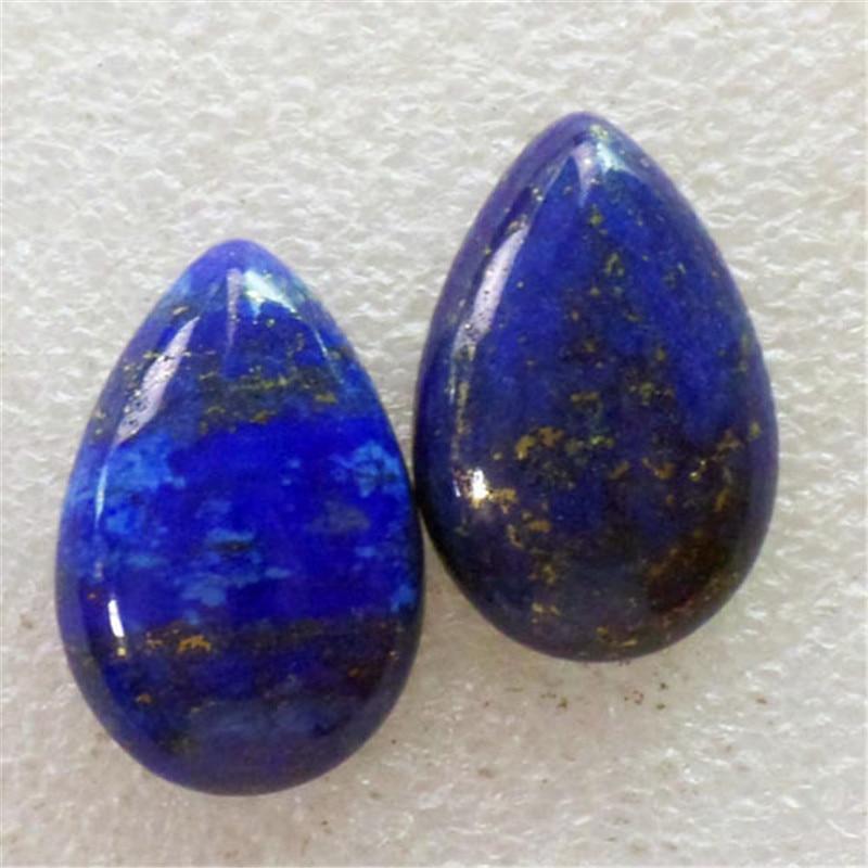 (2 pieces/lot) Wholesale Natural Lapis Lazuli Teardrop CAB Cabochon 31x21x7mm Free Shipping Fashion Jewelry C0000829