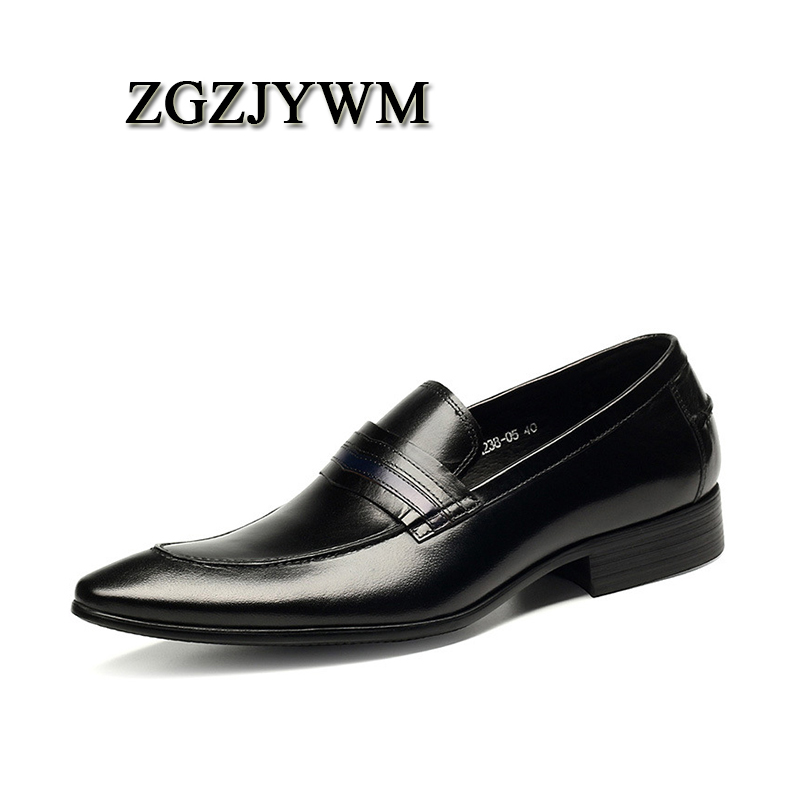 ZGZJYWM New Mens Male Black/Red Business Formal Slip-On Pointed Toe Genuine Leather Carved Wedding Mens Office Business ShoesZGZJYWM New Mens Male Black/Red Business Formal Slip-On Pointed Toe Genuine Leather Carved Wedding Mens Office Business Shoes