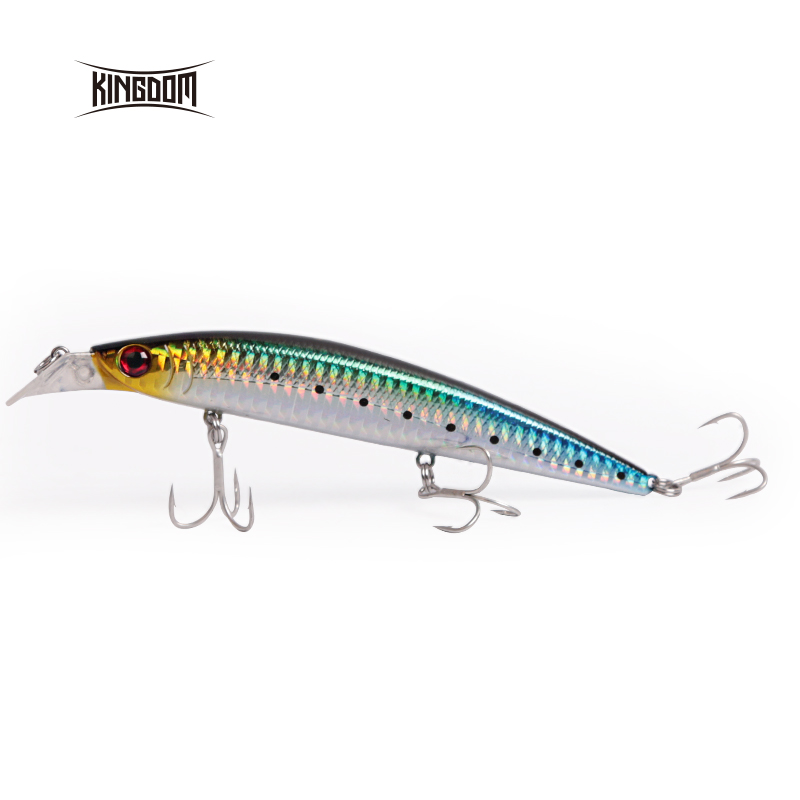 Kingdom Minnow Lure Jerkbait Minnow Fishing Lure Minnow 125mm 23g Fishing Hooks 5354 Sea Fishing Lure Sealurer Fishing Rattlin