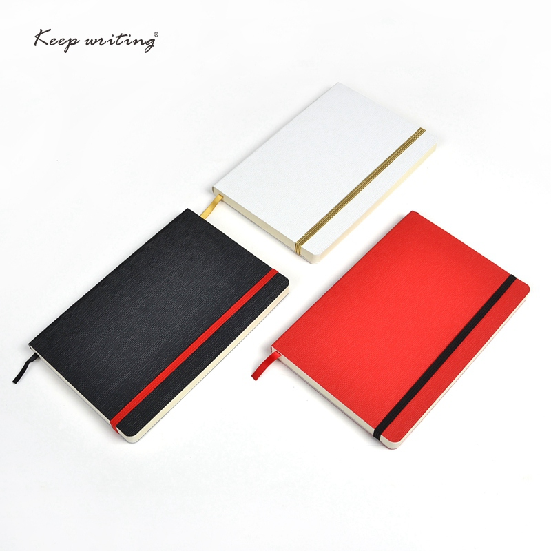 A5 notebook with elastic band and pock journal book 110sheets(220pages) notepad faux leather cover planner journal stationery bruno rossi ml265p cuoio