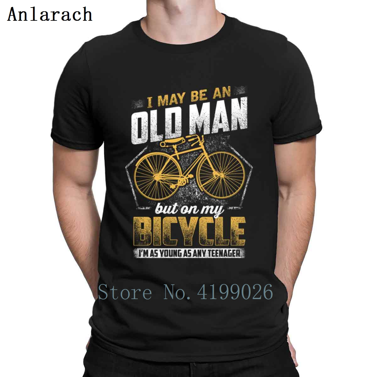 On My Bicycle I'm As Young As Any Teen T-Shirts Kawaii Designs 2018 Male T Shirt Hiphop Tops Classic Great Tee Shirt