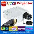 Freeshipping!!! новый UC28 Портативный карманный LCD LED Домашний кинотеатр проектор proyectores HDMI Мини Мультимедийный Плеер Видео
