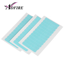5 Sheets 60pcs Hair Tape Adhesive Glue 4cm*1cm Double Side Tape Waterproof For Human Hair Lace Wig Hair Extension Tool Aofire(China)