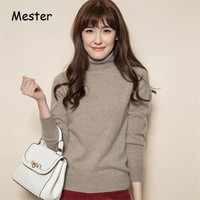 Women Winter Slim Turtleneck Cashmere Sweater High Quality Soft Knitted Sweater Tops Solid Colors Warm Knitwear