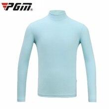 T-Shirts Golf Summer Pgm Sunscreen O-Neck-Collar Ice Bottomming Silk Long-Sleeve D1103