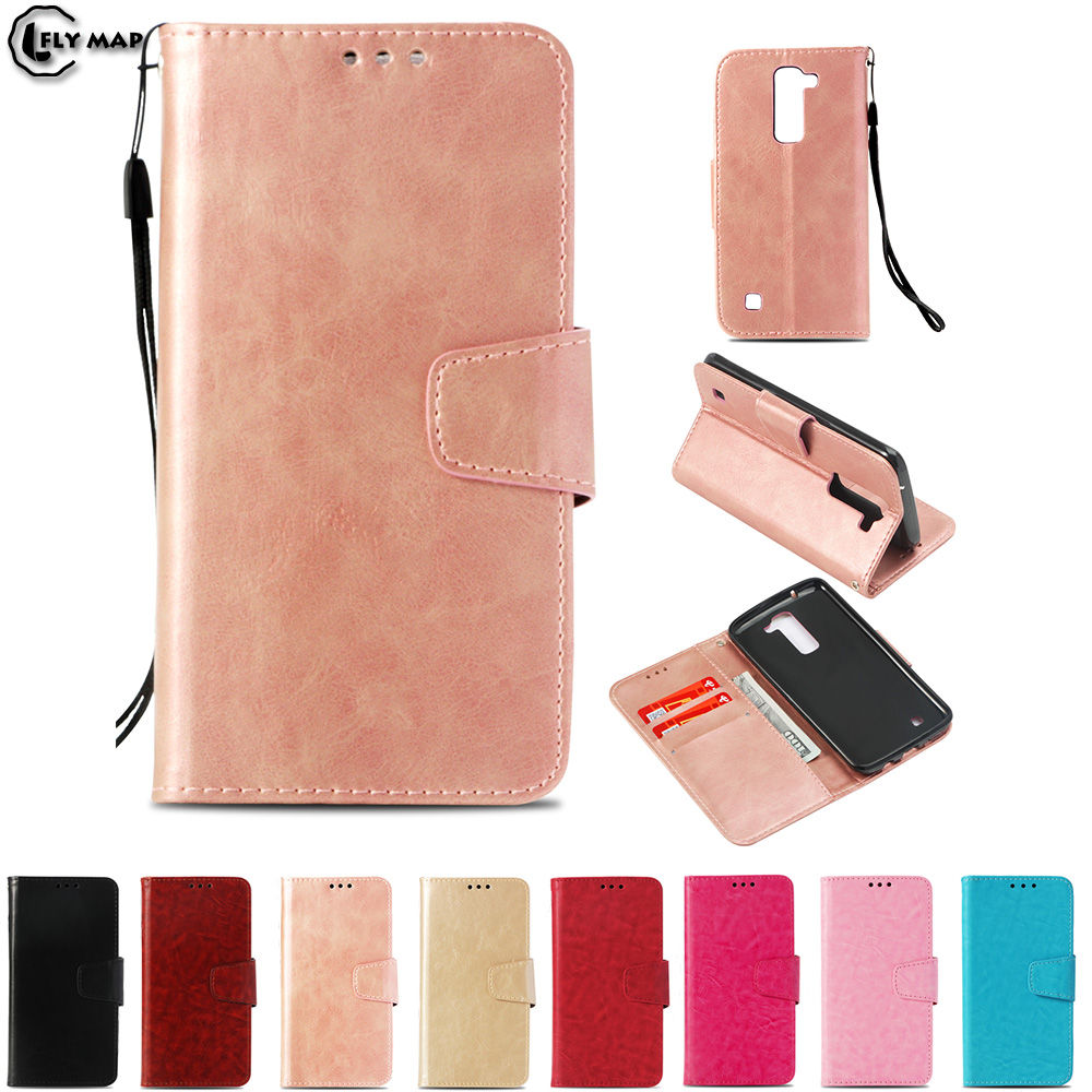 Vintage Flip Case for LG K8 LGK8 K350 E K350E K350N Wallet Card Slot Phone Leather Cover for LG K 8 350 LG-K350E LG-K350N Case ...
