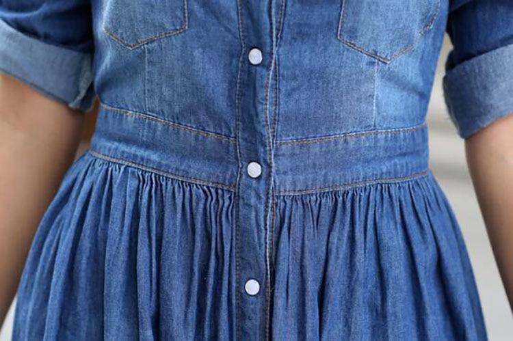 9  spring summer season girls clothes,informal pleated demin gown plus measurement HTB1C1IyjZj B1NjSZFHq6yDWpXay