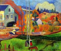 No Framed Landscape Oil Painting A Breton Landscape. David's Mill., 1894 by \Paul Gauguin Painting Hand Painted Canvas