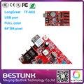 Frete grátis controlador Longgreat TF-A6U 64*384 pixel de controlador de porta USB para p6 p8 p10 p12 p16 p20 ao ar livre led rgb exibição