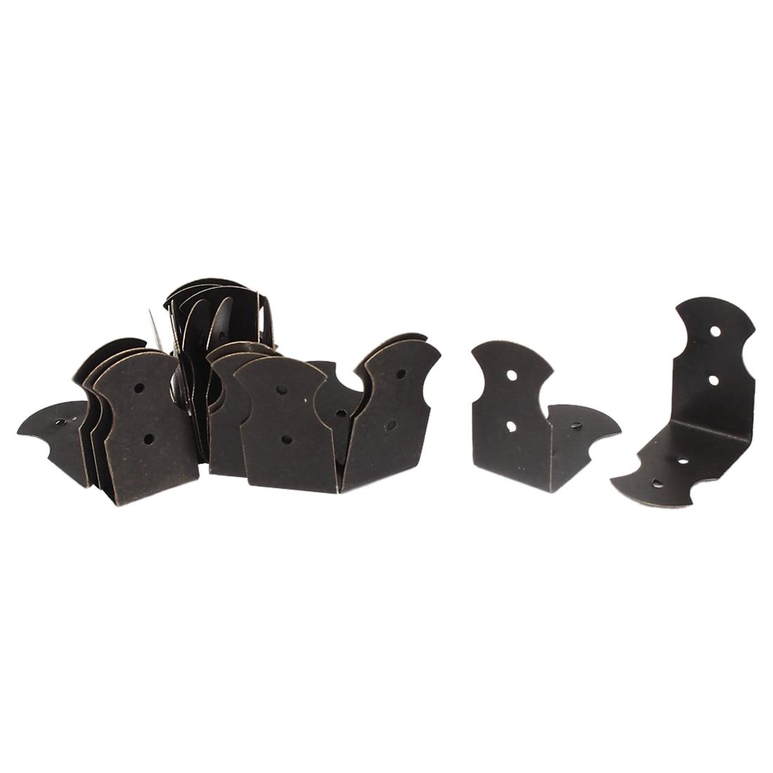 Box Desk Edge Cover Corner Brace Protectors Decorative 25x25mm 20pcs