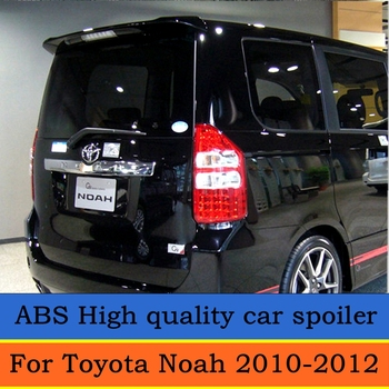 For TOYOTA NOAH VOXY Spoiler 2010 2011 2012 TOYOTA NOAH VOXY High Quality ABS Material Car Rear Wing Primer Color Rear Spoiler