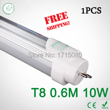 Super Brightness T8 led Tubes 600mm 10W SMD 2835 Led Bulbs lights Fluorescent Tubes AC85~265V Constant Current  free shipping