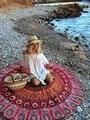 2016 Aliexpress Ebay Gasa Chal Toalla de Playa Ronald Desea Amazon Tc0253b Sección Circular