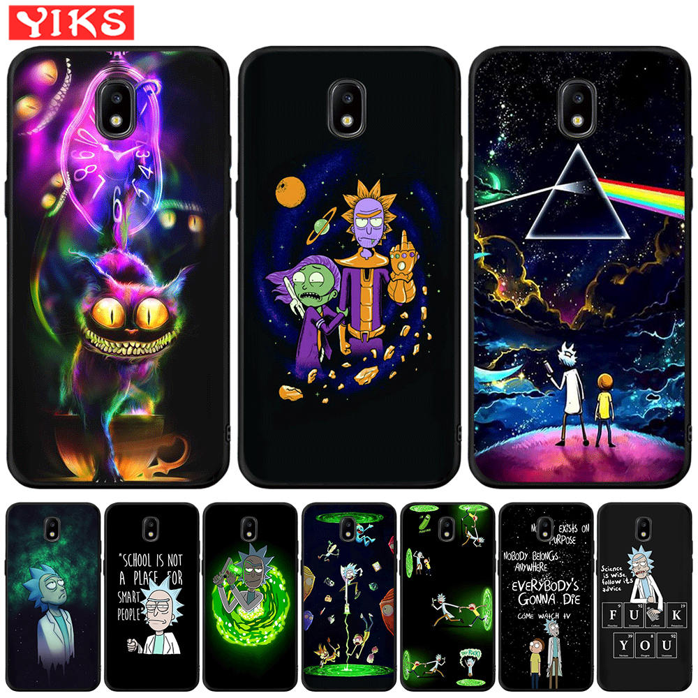 Funny Rick and Morty Cartoon Anime TPU Case For Samsung Galaxy J3 J5 <font><b>J7</b></font> 2016 2017 J2 Prime G530 j4 J6 Plus 2018 Silicone Cover image