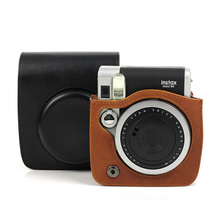 For Fujifilm Instax Mini 90 NEO camera PU Leather Bag Case cover with Shoulder Strap Instax