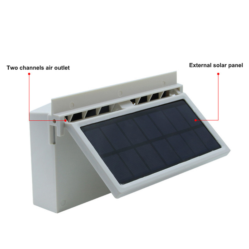 auto Car fans solar powered Cooling system kit DC12V White