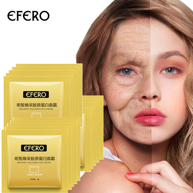 10pc Travel Refill Collagen Face Cream Repair Nourishing Day Cream Moisture Smooth Anti Wrinkle Cream Skin Care Whitening Cream