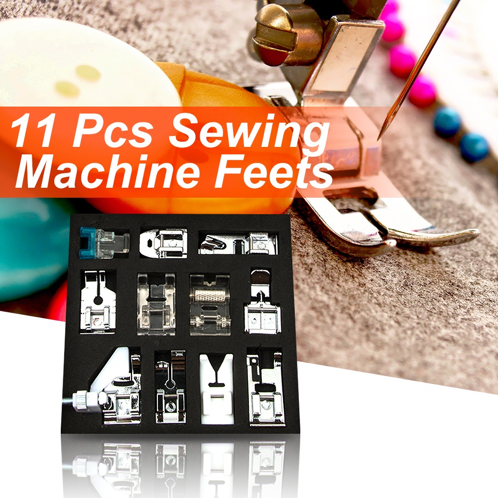 11pcs Domestic Sewing Machine Presser Foot Feet For Most Of Household Multi-functional Sewing Machines Arts Apparel Sewing