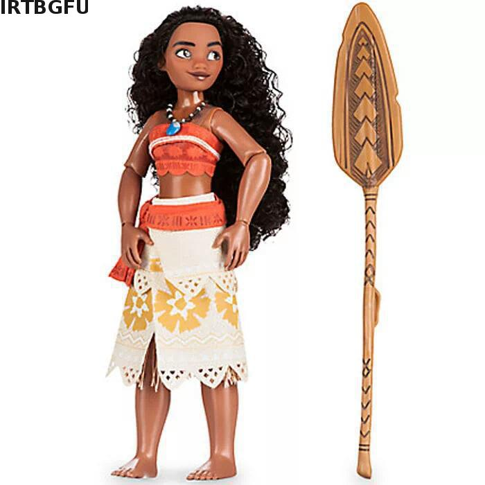 Moana Action Toy Figures 33cm Music Maui Chick Handan Spotted Pig Action Figures Toy Pvc Model Girls Kids Lover Christmas Gift