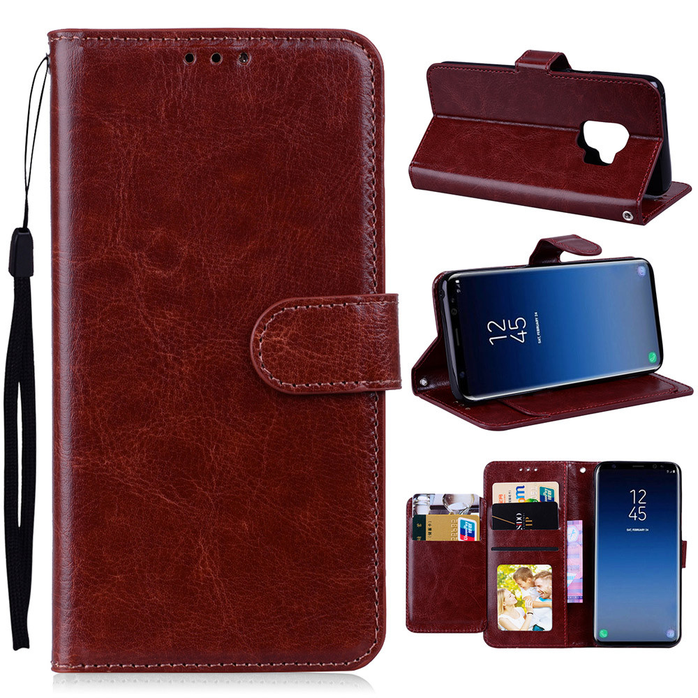 Phone Case 6.2-Inch Luxury Ultra-Thin Leather Flip Card Bag Wallet Multi-Purpose Mobile Phone Soft Case For Samsung S9 Plus 10